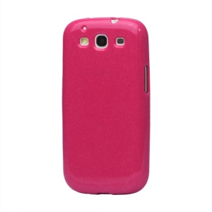Glittery Powder TPU Skin Case for Samsung Galaxy S 3 / III I9300 I747 L710 T999 I535 R530 - Rose