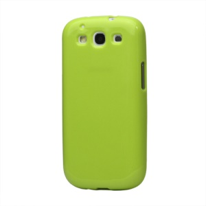 Glittery Powder TPU Skin Case for Samsung Galaxy S 3 / III I9300 I747 L710 T999 I535 R530 - Green