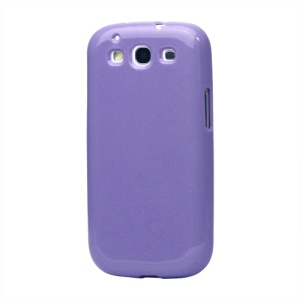 Glittery Powder TPU Skin Case for Samsung Galaxy S 3 / III I9300 I747 L710 T999 I535 R530 - Purple