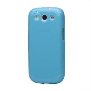 Glittery Powder TPU Skin Case for Samsung Galaxy S 3 / III I9300 I747 L710 T999 I535 R530 - Blue