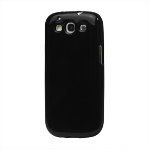Glittery Powder TPU Skin Case for Samsung Galaxy S 3 / III I9300 I747 L710 T999 I535 R530 - Black