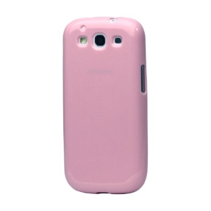 Glittery Powder TPU Skin Case for Samsung Galaxy S 3 / III I9300 I747 L710 T999 I535 R530 - Pink