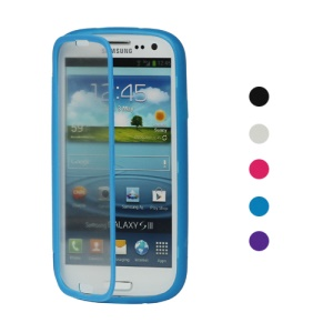 TPU Case with Screen Cover for Samsung Galaxy S 3 / III I9300 I747 L710 T999 I535 R530