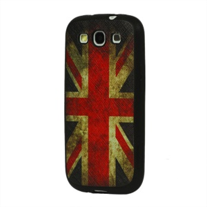Retro Union Jack Flag Samsung Galaxy S 3 / III I9300 Leather Coated TPU Case
