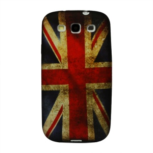 Retro Union Jack Flag TPU Cover for Samsung Galaxy S 3 / III I9300 I747 L710 T999 I535 R530