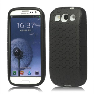 Extended Battery TPU Gel Case for Samsung Galaxy S 3 / III I9300 - Black