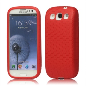 Extended Battery TPU Gel Case for Samsung I9300 Galaxy S 3 / III - Red