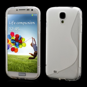 S-Curve Soft TPU Gel Case Shell for Samsung Galaxy S 4 IV i9500 i9505 - Transparent