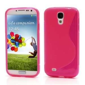 S-Curve Soft TPU Gel Case Shell for Samsung Galaxy S 4 IV i9500 i9505 - Translucent Rose
