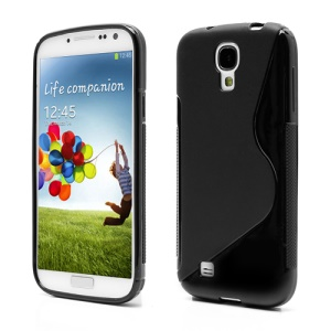 S-Curve Soft TPU Gel Case Shell for Samsung Galaxy S 4 IV i9500 i9502 i9505 - Black