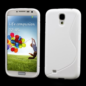 S-Curve Soft TPU Protective Case for Samsung Galaxy S 4 IV i9500 i9505 - White