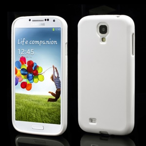 Glossy TPU Jelly Solid Color Case Cover for Samsung Galaxy S IV 4 i9500 i9505 - White