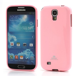 Mercury Glittery Powder Soft Gel TPU Case for Samsung Galaxy S IV S 4 i9500 i9502 i9505 - Pink