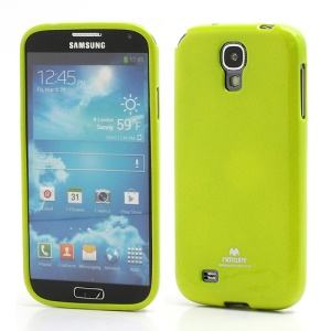 Mercury Glittery Powder Soft Gel TPU Case for Samsung Galaxy S IV S 4 i9500 i9502 i9505 - Yellowgreen