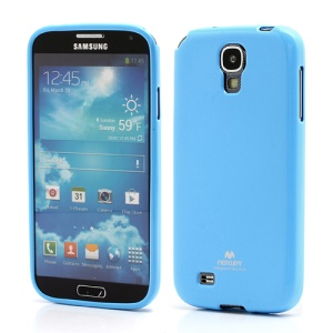Mercury Glittery Powder Soft Gel TPU Case for Samsung Galaxy S IV S 4 i9500 i9502 i9505 - Light Blue