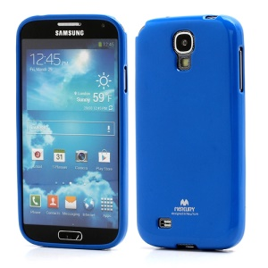 Mercury Glittery Powder Soft Gel TPU Case for Samsung Galaxy S IV S 4 i9500 i9502 i9505 - Dark Blue