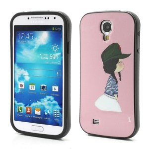 iFace Little Girl Pink TPU Skin Case for Samsung Galaxy S4 IV S4g i9500 i9502 i9505