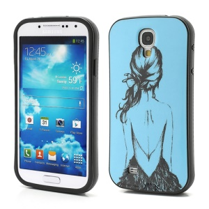 iFace Pretty Girls Back Blue TPU Gel Case for Samsung Galaxy S4 IV S4g i9500 i9502 i9505