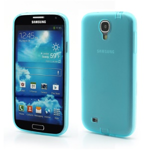 Matte Soft TPU Jelly Case for Samsung Galaxy S IV S4 i9500 i9502 i9505 - Blue