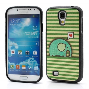 Horizontal Green Lines &amp;amp; Elephent TPU Phone Case for Samsung Galaxy S IV S4 i9500 i9502 i9505