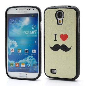 I Love U &amp;amp; Beard Pattern Gel TPU Protector Case for Samsung Galaxy S IV S4 i9500 i9502 i9505