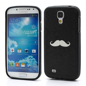 Mustache Pattern TPU Gel Case Accessory for Samsung Galaxy S IV S4 i9500 i9502 i9505 - Black