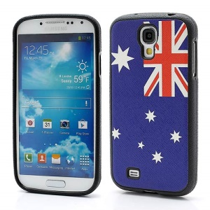 Australian National Flag TPU Cover Case Shield for Samsung Galaxy S IV S4 i9500 i9502 i9505