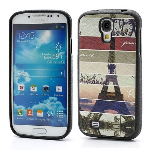 Colorful Lines Eiffel Tower Soft TPU Back Case for Samsung Galaxy S IV S4 i9500 i9502 i9505