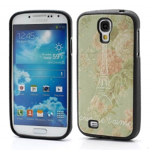 Pretty Flower &amp;amp; Eiffel Tower TPU Gel Skin Case for Samsung Galaxy S IV S4 i9500 i9502 i9505