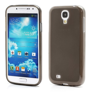 Double-side Frosted Pudding Jelly TPU Case with Packaging Bag for Samsung Galaxy S4 i9500 i9502 i9505 - Grey