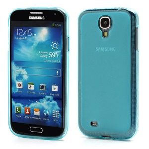Double-side Frosted Pudding Jelly TPU Case with Packaging Bag for Samsung Galaxy S4 i9500 i9502 i9505 - Baby Blue