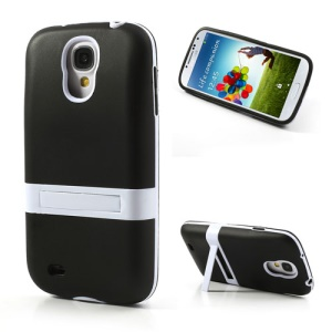 Black for Samsung Galaxy S4 i9500 i9502 Extended Battery TPU Gel Case with Stand