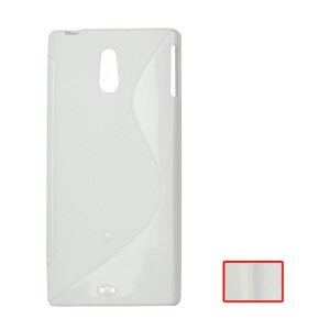 S Shape TPU Gel Case for Sony Xperia P LT22i Nypon;Red