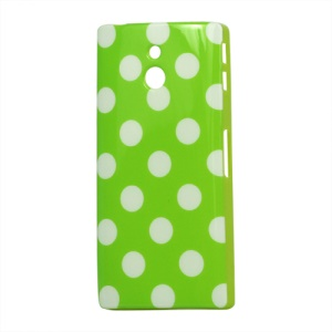 Polka Dots TPU Gel Case Cover for Sony Xperia P LT22i Nypon;Red
