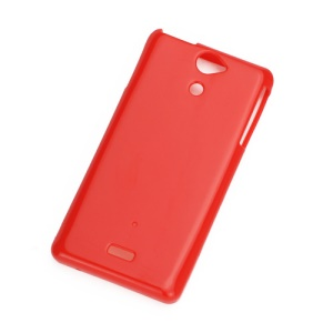 Candy Glossy TPU Gel Case for Sony Xperia V LT25i - Red