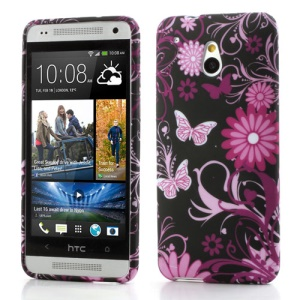 Butterfly & Flower Soft TPU Gel Case for HTC One Mini M4