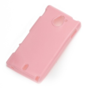 Glossy Pure Color TPU Candy Gel Cover Case for Sony Xperia Sola MT27i Pepper - Pink