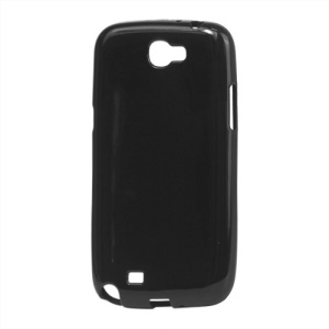 Glossy TPU Gel Case for Samsung Galaxy Note II N7100 - Black