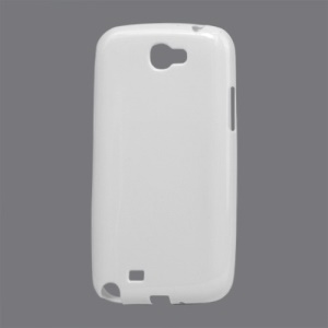 Glossy TPU Gel Case for Samsung Galaxy Note II N7100 - White