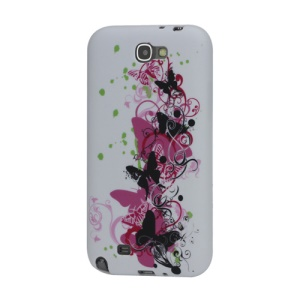 Pretty Butterflies TPU Gel Case for Samsung Galaxy Note 2 / II N7100