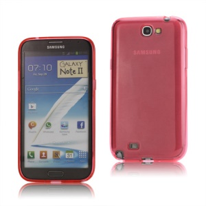 Inner Matte TPU Case Cover for Samsung Galaxy Note 2 / II N7100 - Red