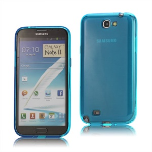 Inner Matte TPU Case Cover for Samsung Galaxy Note 2 / II N7100 - Blue