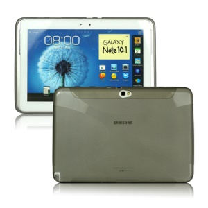 X Shape TPU Gel Case for Samsung Galaxy Note 10.1 N8000 N8010 - Grey