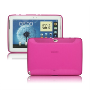 Stylish Matte TPU Gel Skin Case for Samsung Galaxy Note 10.1 N8000 N8010 - Rose