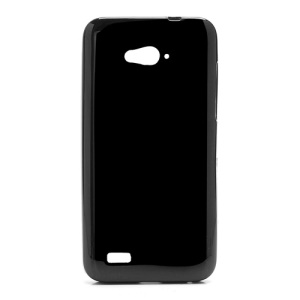 Candy Jelly TPU Gel Case Cover for ZTE N983 - Black