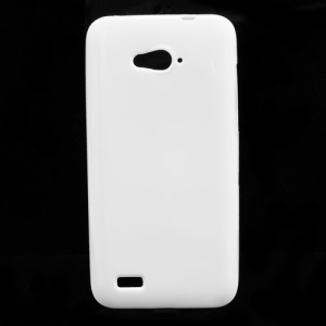 Candy Jelly Gel TPU Case Cover for ZTE N983 - White