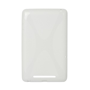 X Shape TPU Gel Case for ASUS Google Nexus 7 - White