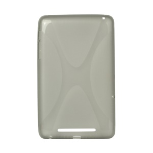 X Shape TPU Gel Cover for ASUS Google Nexus 7 - Grey