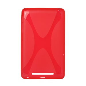 X Shape TPU Gel Case for ASUS Google Nexus 7 - Red