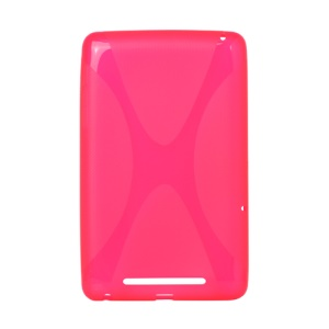 X Shape TPU Gel Case for ASUS Google Nexus 7 - Rose